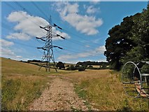 ST3000 : Power lines in the Yeo Valley by Roger Cornfoot