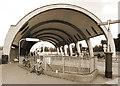 TQ4488 : Newbury Park Bus Station by Des Blenkinsopp