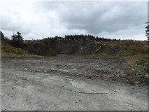 NR7643 : Trackside quarry, Deucheran Hill by Alpin Stewart