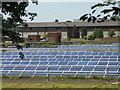 TQ1168 : Solar panels at Walton on Thames Water Works by Mike Quinn