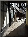 SJ4912 : Alleyway through timber-framed houses by Philip Halling