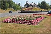 NT2540 : Flowerbeds on Edinburgh Road, Peebles by Jim Barton