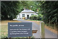 TQ1352 : Driveway to bungalows, Polesden Lacey by M J Roscoe
