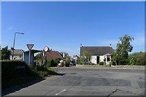 NT1067 : Leyden Road joining Station Road, Kirknewton by Tim Heaton