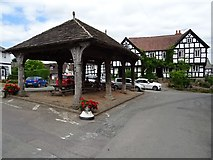 SO3958 : Market hall and the New Inn, Pembridge by Philip Halling