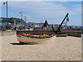 SX9472 : Boat and Anchor, Teignmouth Sea Front by David Dixon