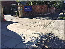 SE3221 : Paved surfaces, Margaret Street, Wakefield by Robin Stott
