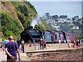 SX9473 : Steam Locomotive at East Cliff by David Dixon