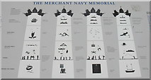 NT2776 : The Merchant Navy Memorial, Leith by M J Richardson