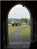 SO3958 : View from the porch of Pembridge church by Philip Halling