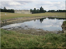 SP9632 : Woburn Abbey and Basin Pond by Peter S