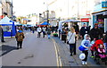 ST9273 : Christmas Shoppers, Market Place, Chippenham, Wiltshire 2014 by Ray Bird