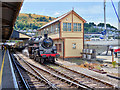SX8851 : 75014 Braveheart and Signal Box at Kingswear Station by David Dixon