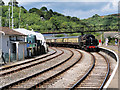 SX8851 : Dartmouth Steam Railway Train Arriving at Kingswear by David Dixon