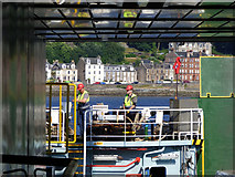 NS0865 : Ferry docking at Rothesay by Thomas Nugent