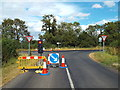 SP8175 : Temporary traffic lights near Broughton by Malc McDonald