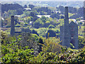 SW7343 : Wheal Unity Wood - engine houses by Chris Allen