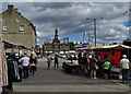 SK0573 : Buxton marketplace - looking to The Town Hall by Neil Theasby
