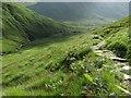 NH0117 : Path above the Allt Grannda by Richard Webb