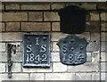 TG2308 : 28 Elm Hill - parish marker plates by Evelyn Simak