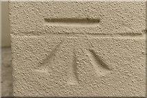 SE4048 : Cut Bench Mark, St Joseph's Church by Mark Anderson