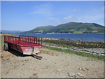 NS0769 : Farm equipment by the shore by Thomas Nugent