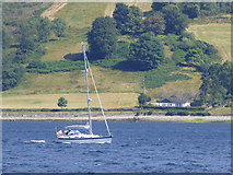 NS0671 : Yacht in the Kyles of Bute by Thomas Nugent