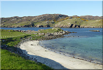 NC1444 : Rocks at the edge of Scourie Bay by Carron K