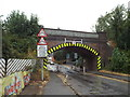 SP7487 : Railway bridge on Kettering Road, Market Harborough by Malc McDonald