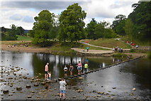 SE0754 : Stepping stones by Bolton Priory by John M