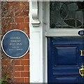 SK3516 : Blue plaque, Ivanhoe Terrace, South Street, Ashby-de-la-Zouch by Alan Murray-Rust