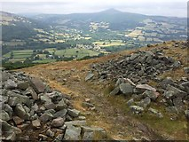 SO2220 : View from the Iron Age hillfort, Crug Hywel by Alan Hughes