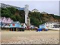 SZ5881 : The Clocktower and lift by Shanklin Beach by Steve Daniels