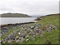 NB2415 : Building remains by Loch Seaforth/Loch Shiphoirt, Isle of Lewis by Claire Pegrum