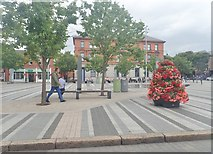 J0407 : View North across Market Square, Dundalk by Eric Jones