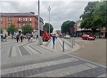 J0407 : The R132 at the Market Square, Dundalk by Eric Jones