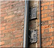TG2308 : 12 All Saints Green - parish boundary markers by Evelyn Simak