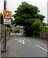 SO1105 : Outdated warning sign, Farm Road, Pontlottyn by Jaggery