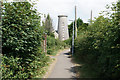 SS9769 : Footpath past the windmill by Bill Boaden