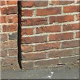 SK3616 : Bench mark, Vicarage garden wall, Ashby-de-la-Zouch by Alan Murray-Rust