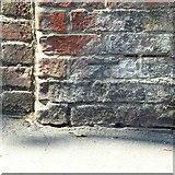 SK3616 : Bench mark, Upper Church Street, Ashby-de-la-Zouch by Alan Murray-Rust