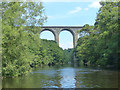 SJ2841 : River Dee and viaduct, Ty Mawr Country Park, Wrexham by Robin Drayton