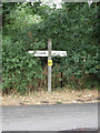 TL8727 : Signpost on Tey Road by Geographer