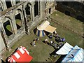 SK3616 : Ashby Castle – eastern courtyard from above by Alan Murray-Rust