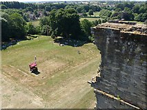 SK3616 : Ashby Castle – the gardens from the Hastings tower by Alan Murray-Rust