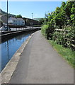 ST2193 : Canalside path in Pontywaun by Jaggery
