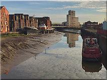 TA1028 : River Hull from Scale Lane Bridge by Paul Harrop