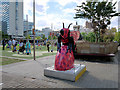 SJ8498 : Bee in the City #7, Rubee at Piccadilly Gardens by David Dixon