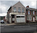 ST1888 : Derelict corner shop in Trethomas by Jaggery