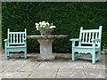 SO9408 : Seats in gardens of Miserden Park by Philip Halling